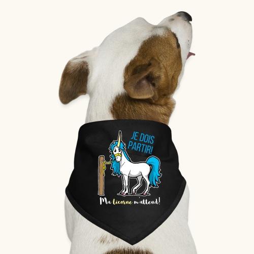 Lustiges Einhorn mit Spruch Französisch Geschenk - Bandana pour chien