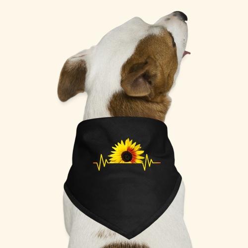 Sonnenblumen, Sonnenblume, Herzschlag, Rhythmus - Hunde-Bandana