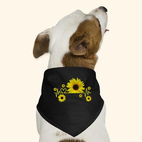 Sonnenblumen, Sonnenblume, Herzschlag, Herz, Blume - Hunde-Bandana