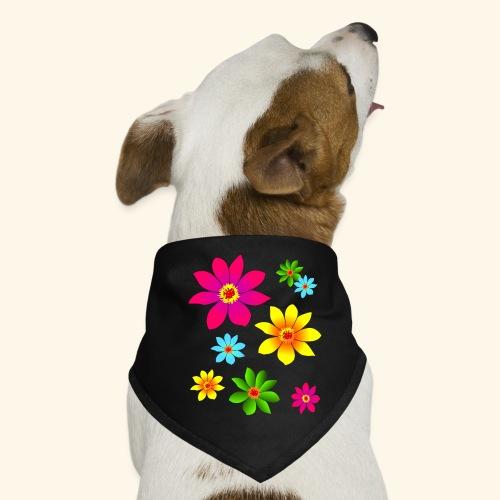 bunte Blumen, farbenfroh, blühend, Blüten, blumig - Hunde-Bandana