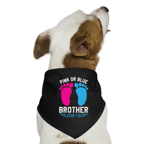 Pink or blue brother loves you - Hunde-Bandana