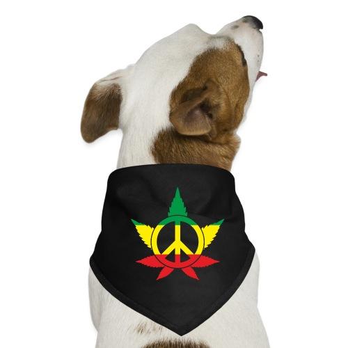Peace färbig - Hunde-Bandana