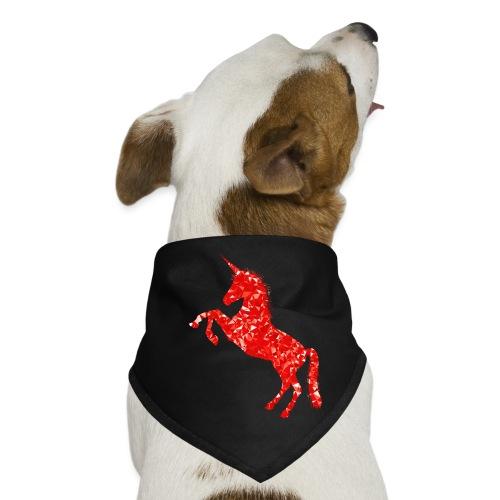 unicorn red - Bandana dla psa