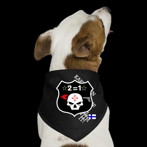 teksti logo musta tausta - Koiran bandana
