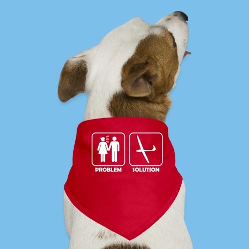 Segelflieger Problem lustiges Motiv Segelflugzeug - Hunde-Bandana