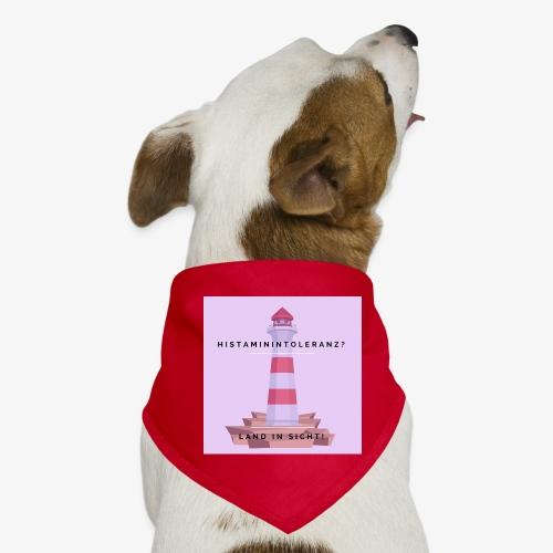 Histaminintoleranz – Land in Sicht (lila) - Hunde-Bandana