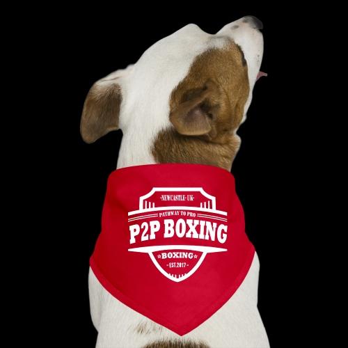 P2P Boxing White Logo - Dog Bandana
