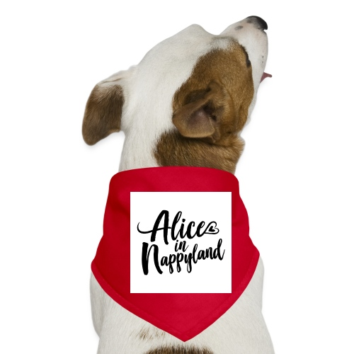 Alice in Nappyland Typography Black 1080 1 - Dog Bandana