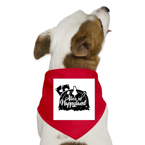 Alice in Nappyland TypographyWhite with background - Dog Bandana