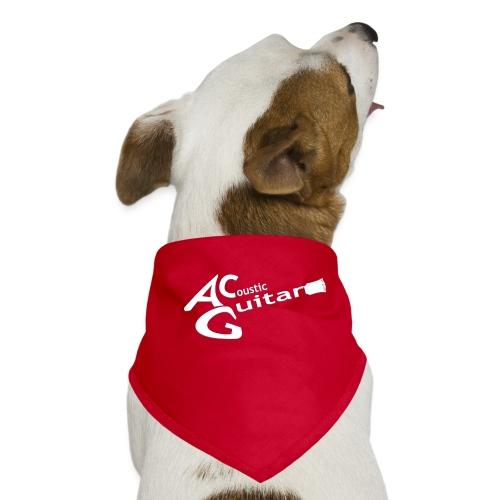 Acoustic Guitar Logo - White - Dog Bandana
