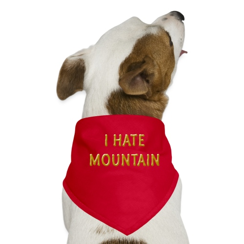 hate mountain - Hunde-Bandana