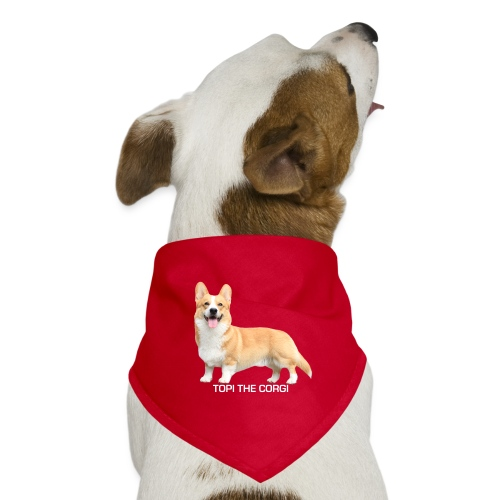 Topi the Corgi - White text - Dog Bandana