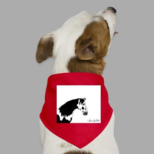 Pferdekopf mit Unterschrift - Hunde-Bandana