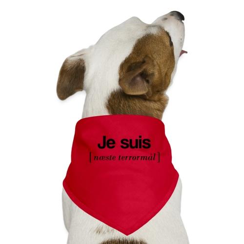 Je suis (sort skrift) - Bandana til din hund
