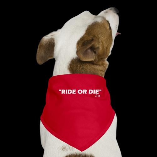 Ride or die (blanc) - Bandana pour chien