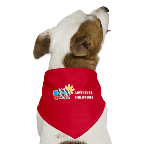 Philippinen-Blog Logo english orange/weiss - Hunde-Bandana