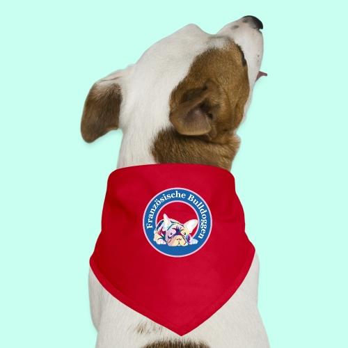 Französische Bulldoggen rosa blau - Hunde-Bandana