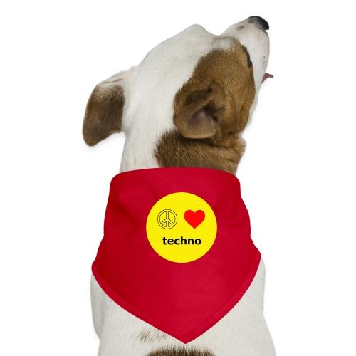 paz amor techno - Pañuelo bandana para perro