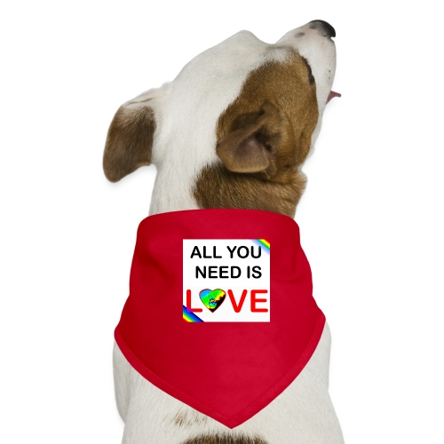all you need is peace and love - Bandana pour chien