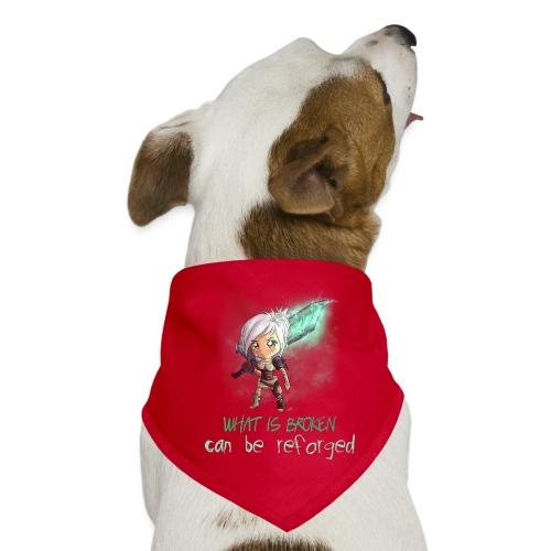 Chibi Riven con scritta - Bandana per cani