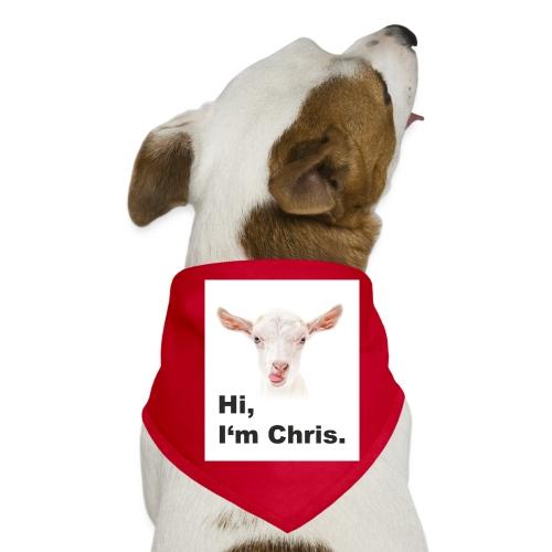 Goat. Hi, I'm Chris. - Hunde-Bandana