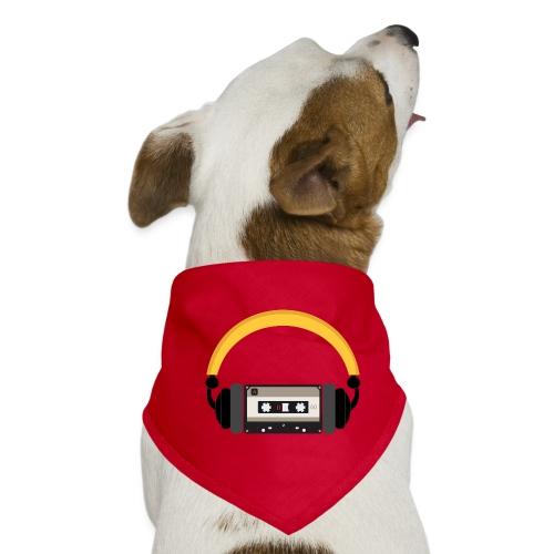 Retro cassette tape with headphone - Bandana til din hund