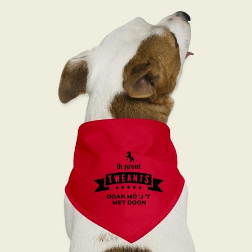 Ik proat Tweants...(donkere tekst) - Honden-bandana