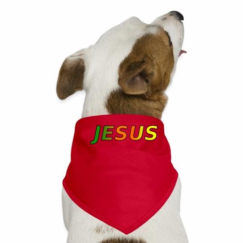 JESUS - grün/orange/gelb - Hunde-Bandana