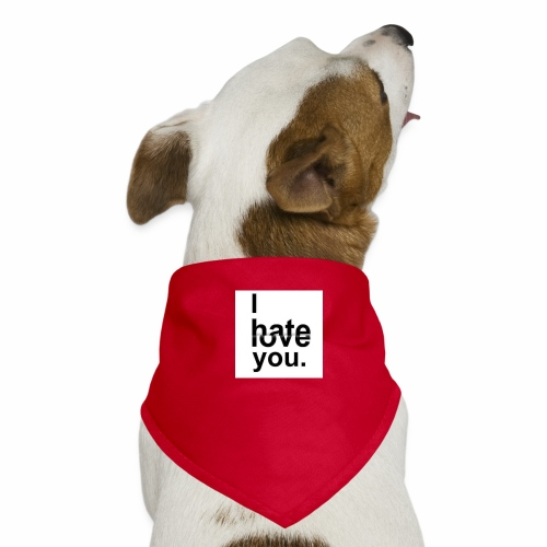 love hate - Dog Bandana