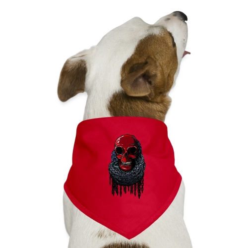 RED Skull in Chains - Dog Bandana