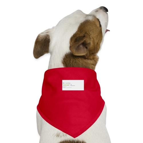 code - Bandana pour chien
