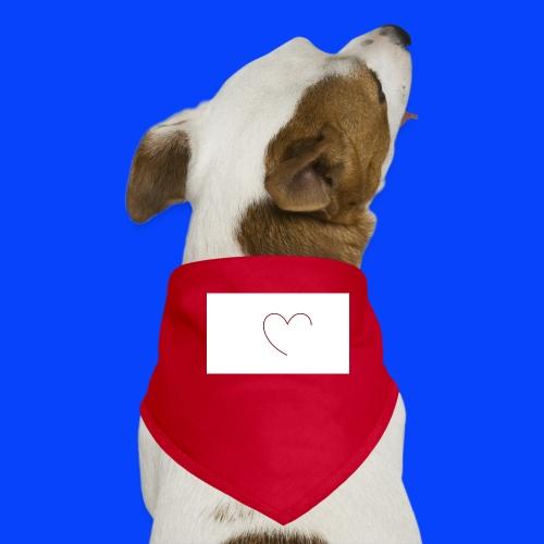t-shirt bianca con cuore - Bandana per cani