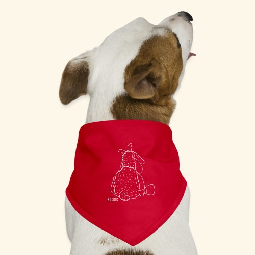 Schafbock: Bockig - weiß - Hunde-Bandana