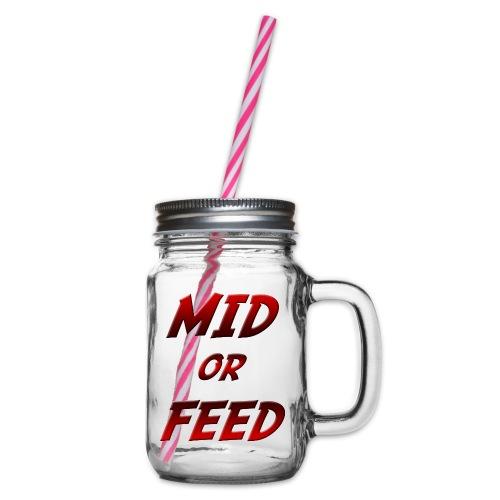 Mid or feed - Boccale con coperchio avvitabile