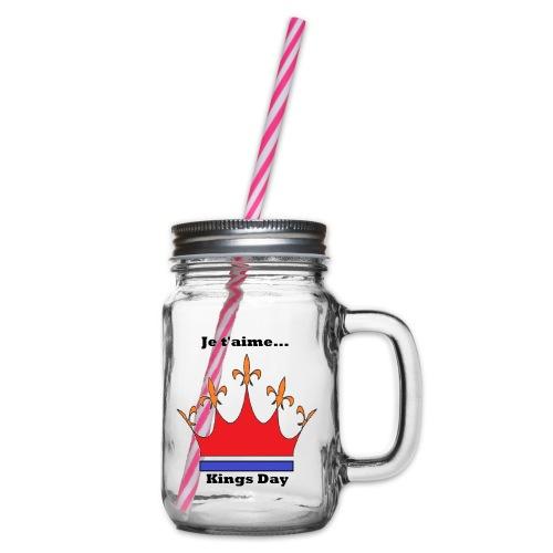 Je taime Kings Day (Je suis...) - Drinkbeker met handvat en schroefdeksel