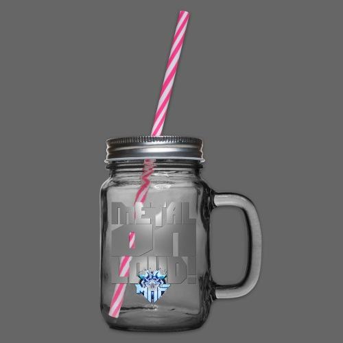 metalonloud large 4k png - Glass jar with handle and screw cap