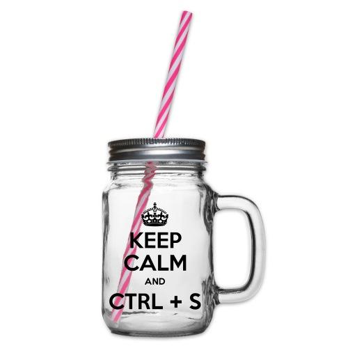 Keep Calm and CTRL+S - Bocal à boisson