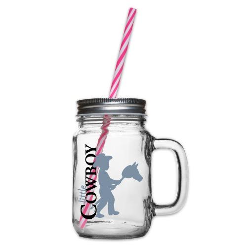LittleCowboy's - Henkelglas mit Schraubdeckel