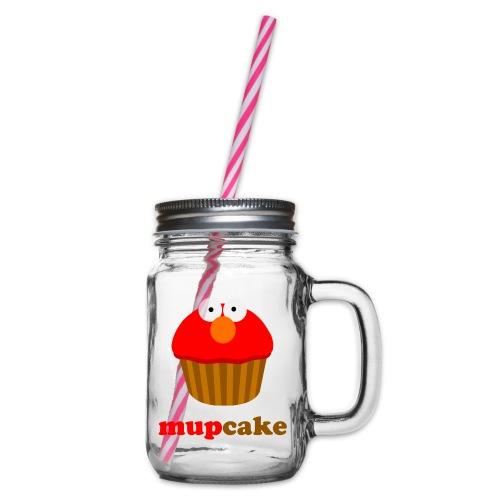mupcake elmo - Drinkbeker met handvat en schroefdeksel