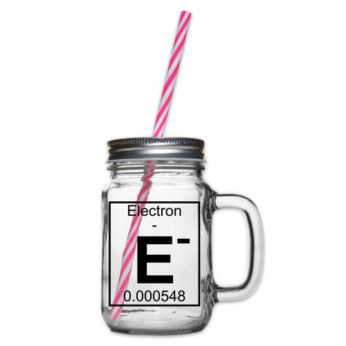E (electron) - pfll - Glass jar with handle and screw cap