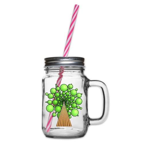 Kugel-Baum, 3d, hellgrün - Henkelglas mit Schraubdeckel