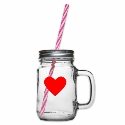 Kahvikuppi - Sydän - Lasimuki kierrekannella
