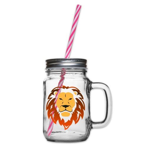 Lion orange - Bocal à boisson