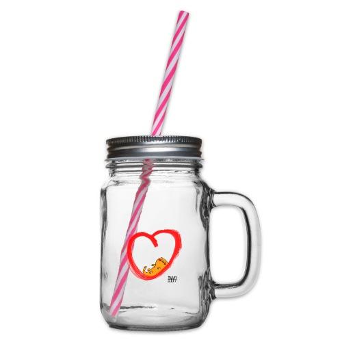 LYD 0003 04 KittyLove - Henkelglas mit Schraubdeckel