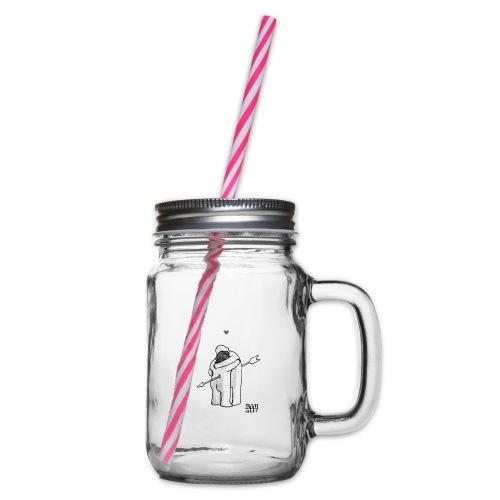 Stef 0001 01 Love - Henkelglas mit Schraubdeckel