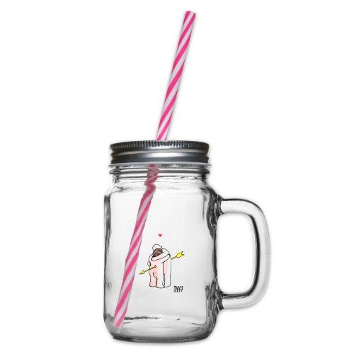 Stef 0001 00 Love - Henkelglas mit Schraubdeckel