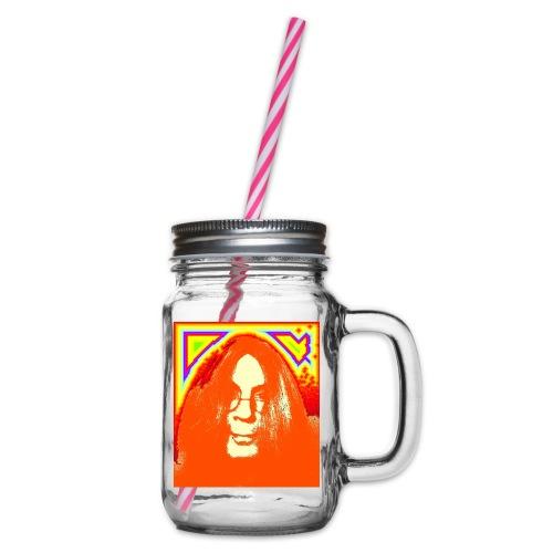 hippie1 - Henkelglas mit Schraubdeckel