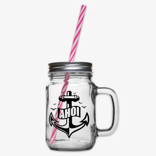 104 Ahoi Anker Möwen maritim - Henkelglas mit Schraubdeckel