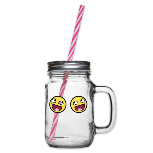 Boxers lolface 300 fixed gif - Glass jar with handle and screw cap