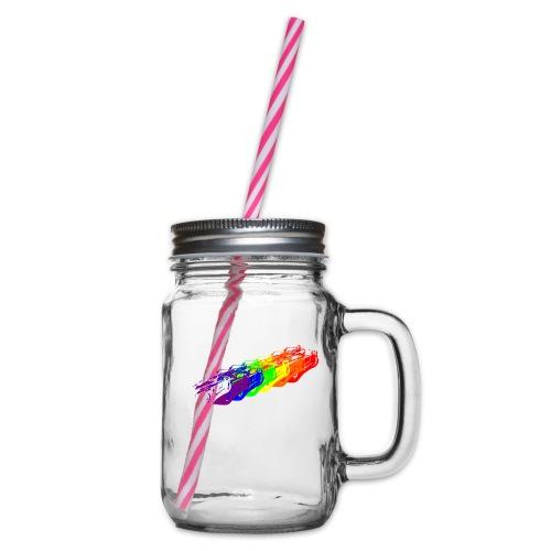 Cobra Rainbow - Glass jar with handle and screw cap